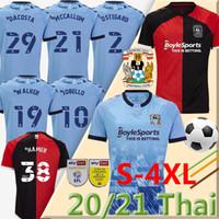 S-4XL 2020 21 Coventry City Futbol Formaları Godden Ostigard Jobello Walker McCallum Da Kosta Hamer Ev Mavi Futbol Gömlek Tayland