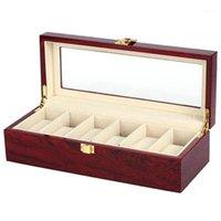 Custodie per orologi Cases Luxury 5 slot Scatola in legno Porta in legno per uomo Orologi da donna Orologi Organizzatore Griglie Greenery Organizzatori Drop1