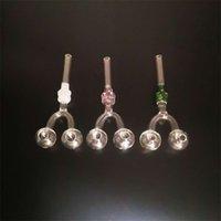 Tragbare Pfeife transparent Ölbrenner Schädel DIY Glas Slingshot Wasser Rohre Frau Mann Rauchen Set Raucher Paraphernalia 3 5pw K2