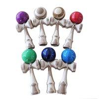 Профессиональный 18 см Кендама деревянные игрушки PU рисовать полоса бамбук уютное уютное жонглирование мяч на открытом воздухе жонглирование игры мяч игрушки y200428