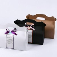 100pcs lot Brown paper long roll box, hand cup baking packag...