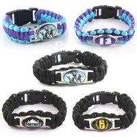 Bracelet à breloques pour les femmes Classique Battle Royale Weave Bracelets jeu Parapluie corde corde Quinzaine Bracelet