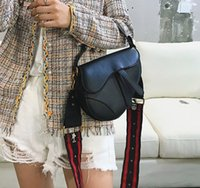 Moda designer sela senhora bolsas com letras selas saco de alta qualidade Genuine della Donna Donna oblíquaselimsacos de ombro de couro