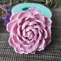 Prby 3D Flor Chrysanthemum Molde de silicona Molde de jabón de silicona Herramienta de vela Moldes de vela Maquillaje de molde Resina de resina Clay Herramientas para hornear ecológico 201023
