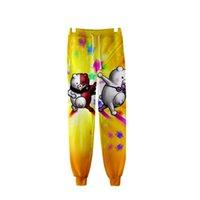 DangAnronpa Monokuma 3D Joggers Pantalones Hombres / Mujeres Pantalones casuales Hip Hop Sweetpants Black White Bear Cosplay Disfraces 345