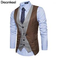 Vestes pour hommes 2021 Dreamkeel Mens costumes Vest Homme Top Boys Vente de mode Mode Business Wear Hommes Gilet Vêtements Y1