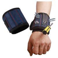 Magnetic Viti Wristband Pocket strumento Belt Pouch Bag Holder supportare attrezzi Bracciali magnetici Pratica Chuck polso Toolkit LJJP721