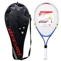 أطفال صغار الأطفال رياضية مضرب تنس سبائك الألومنيوم بو مقبض مضرب تنس YS-BUY 201116