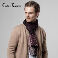 Scarves Catei Karrui Men's Scarf Autumn And Winter National Classic Plaid Casual Warm Business Thickening Long Bib Men