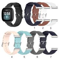 Per Fitbit versa cinturino in vera pelle 3 cinturino intelligente per Fitbit senso / versa3 cinturino Bracciale braccialetto Accessori di orologi