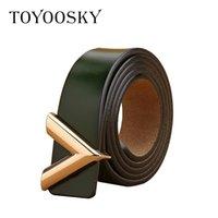 2019 Designer Donne Cintura donna Cintura in vera pelle Cummerbunds per Lady V-a forma di fibbia Elegante cintura elastica per femmina LJ200921