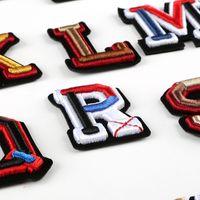 Lettre 3D Badges brodé sur Sew Nom coloré Patch Balises Hat shirt sac Logo bricolage Emblèmes Artisanat Alphabet Décorations HHA2190