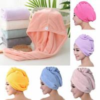 Sèche cheveux Caps Microfibre rapide Douche sèche-cheveux magique Absorbent Serviette de séchage Turban Wrap Spa bonnet de bain OCEAN BATEAU HHA1669