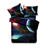 Ensembles de literie Accueil Textile 3D Impression Étoiles Litkcothes Univers Modèle Galaxy Linge de lit Taie d'oreiller Couverture Duvet Sets321