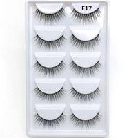 Crear marca propia E17 aspecto natural de 5 pares 3d visón suave y seda pestañas con alta calidad