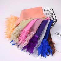 Красивый дизайнер популярный обычный шарф пузырь шифон шарф женские мусульманские хиджаб шаль обертки длинное перо 10 шт. / Лот1