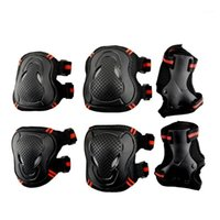 6Pcs  Set Adult Children Knee Elbow Pads protective gears fo...