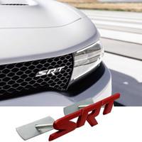 자동차 전면 그릴 명판 닷지 챌린저 충전기에 대한 금속 복수 램 캐러밴 그래픽 SRT 편지 로고 3D 액세서리