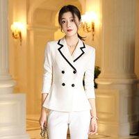 Frauen Zwei Stück Outfits Herbst Neue Koreanische Version des Berufsanzugs Temperament Pendler Arbeitskleidung