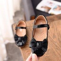 1 2 3 4 5 6 7 8 9 10 11 12 سنة طفل أحذية جلدية للبنات أزياء الأطفال مع أحذية القوس الخريف الربيع big kids'shoes1