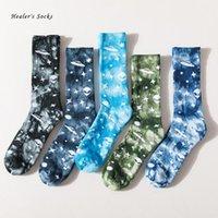 Herren Socken Mode Männer und Frauen Baumwolle Bunter Stern Alien Krawatte Harajuku Straße Hiphop Skateboard Glückliches lustiges Röhrchen