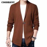 Coodrony Brand Cardigan мужская одежда Осень зимняя уличная одежда модный свитер мужчины толстые теплые вязаные шерстяные поступления C1161 201125