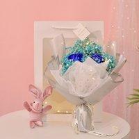 Navidad San Valentín Día Regalo Secado Flor Artificial Gypsophila Ramo Creativo Eterno Gypsophila Ramo de jabón Flor VTKY2165