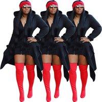 Ropa de moda de las mujeres con cremallera de cola de mariposa especial con sombrero de una pieza. Diseñador de abrigo Trench El nuevo listado