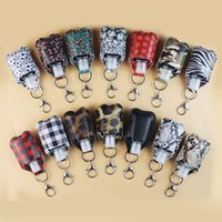 Leather keychain Hand Sanitizer Bottle Holder Keychain Bag 3...