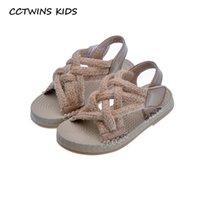 CCTWINS Детская обувь 2020 лето малышей Pu кожаные плоские ребёнки моды принцесса сандалии малышей Марка Мягкие ботинки Black PS837 1005