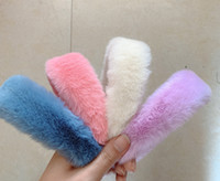 Solid colors Sweet Retro Women Elegant Rabbit Fur lady GIRS ...