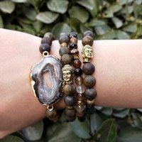 Lii Ji Natürlicher Druus Druzy Anhänger Bronzite Buddha Hämatit Kristall Heilung Power Stein Armband Frauen Männer Geschenk Dropshipping