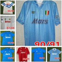 1986 1987 1988 89 91 92 93retro Classic Napoli Jersey Retro Fútbol Jerseys Hogar MARADONA MAILLOTS DE FOOT RÉTRO CAMISETA DE FUTBOIT