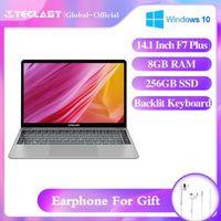Teclast F7 Plus Laptop 14.1inch Notebook Intel Celeron N4100 Windows10 8GB LPDDR4 256GB M.2 SSD 1920 * 1080PLS بلوتوث 4.2 WiFi1