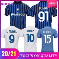 20 21 21 Atalanta Soccer Jerseys Muriel 2020 2021 Atalanta BC Maglia da calcio Duvan Camicia da calcio Ilimic Pasalic Gomez Men Kit Kit Uniform