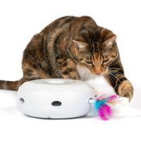 Electronic rit Cat Toy Toy Smart Tense Cat Stick Сумасшедший игрой Спиннинг проигрывателен для улов Мышь Пончик автоматический проигрыватель Cat Smart Toy LJ201125
