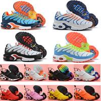 2020 niños tn plus tn juventud chicas codiciosos decon calzado niños niños entrenadores chaussures arco iris azul furia rosa deporte zapatillas de deporte tamaño 28-35