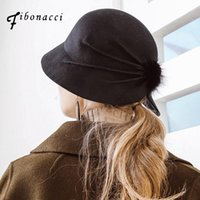 Sombreros de ala nódica Fibonacci Fibra de alta calidad Sombrero de cucharón hembra de bola Hairball Field Field Fedoras para mujer plegable1