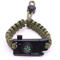 Outdoor Armbänder Kunststoff Gebogene Schnalle 7 Strang Paracord Armband Survival Armband Camping Wanderung Abenteuer Armband Werkzeugausrüstung