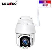 Cámaras SECTEC 5MP PTZ SPEED DOME Cámara IP WIFI Wireless 4x Digital ZoomOutdoor Seguridad Vigilancia Impermeable Networt CCTV cámara1