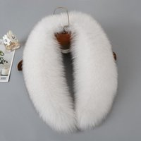 Luxury-Real Fur Collar 100% Natural Fur Scarves With Fashion Coat Women Warm Large Scarf Winter High Quality shawl Unisex collar