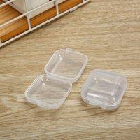 حاويات تخزين الخرز البلاستيك - مصغرة مربحة مربع مربع فارغة مع غطاء لسدادات الأذن، مجوهرات، أجهزة أو أي حرف صغير آخر