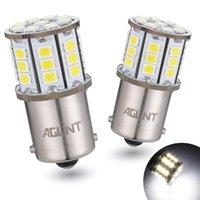 AGLINT 2PCS 1156 LED lâmpada 2835 33-ex chips P21W Ba15s usados para luzes reversas de backup luzes traseiras, luz sinal de sinal branco 12 / 24V