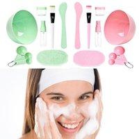DIY Masque Tool Set Set Medium 9 in 1 Bol à masques Spatula Brosse Set de mélange outils de fabrication du visage Kit de fabrication faciale1
