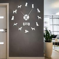 Orologio da parete Orologio da parete moderno Piccolo Hound Dog razza inglese Beagle fai da te parete della decorazione di arte Giant Beagle dog agli animali Home Decor