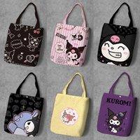 Ivyye melody kuromi мода аниме складной холст сумка повседневная сумки на плечо индивидуальные сумки сумка леди девушки новые