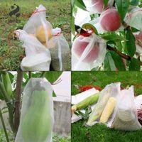 حقائب 10PCS شبكية حديقة الفاكهة الغلاف الحاجز لحماية العنب الشكل زهرة البذور النباتية من الحشرات البعوض حقيبة 30x20cm
