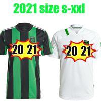 2020 2021 오스틴 FC 축구 유니폼 멀리 화이트 새로운 취임식 MLS 22 홈 링 도밍 즈 리마 다리오 Conca Kleber Xavier 축구 셔츠