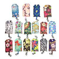 Neueste Home Storage Nylon Faltbare Einkaufstaschen Wiederverwendbare Umweltfreundliche Falttasche Einkaufstaschen Neue Damen Aufbewahrungstaschen