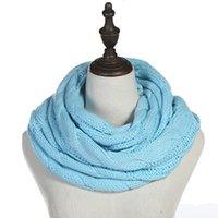 Мода Вязаных Теплого шарф круг петля шарф грелка шея мужчины и женщины шарф Рождество Мода для вечеринок IIA754